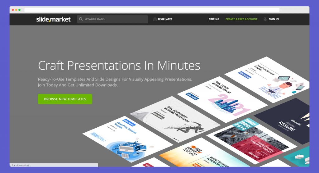 Slide market powerpoint templates