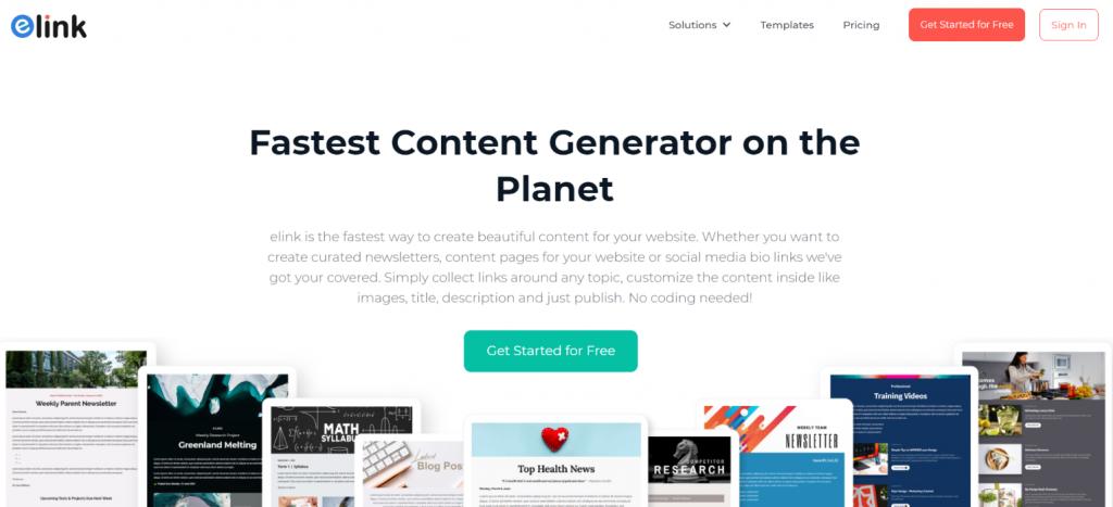 elink.io: Webpage creator