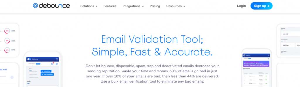 Debounce: Email verification tool