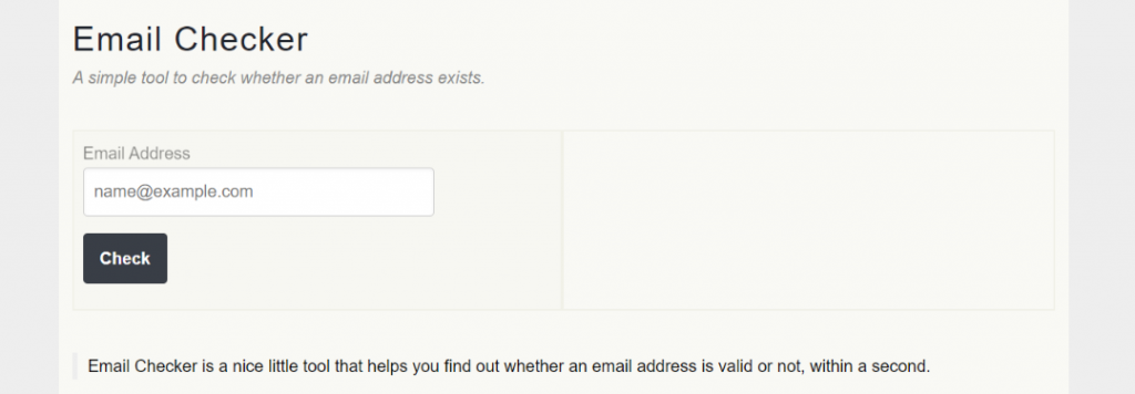 Email checker: Email verification tool