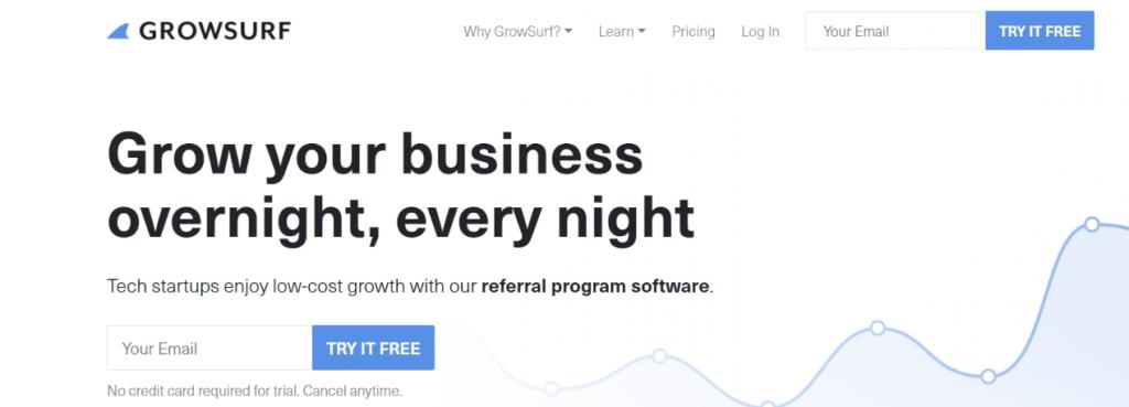 Grow surf: Viral Marketing Tool