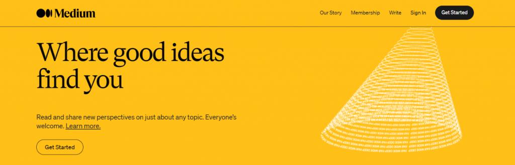 Medium: Blog site
