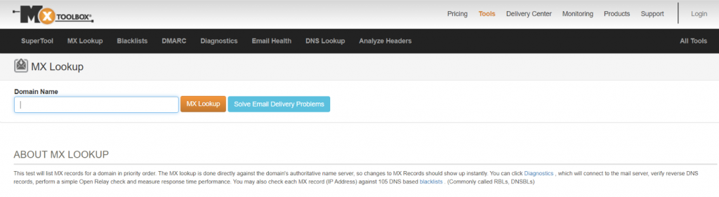 Mx tool box: Email deliverability tool