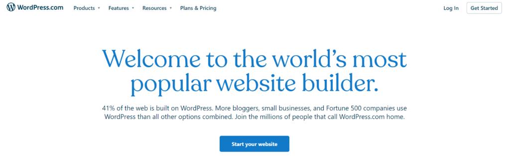 Wordpress: Blog site