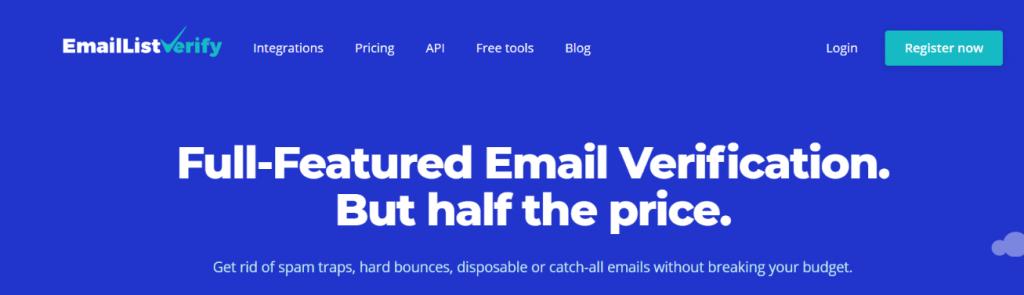 Emaillistverify: Email verification tool