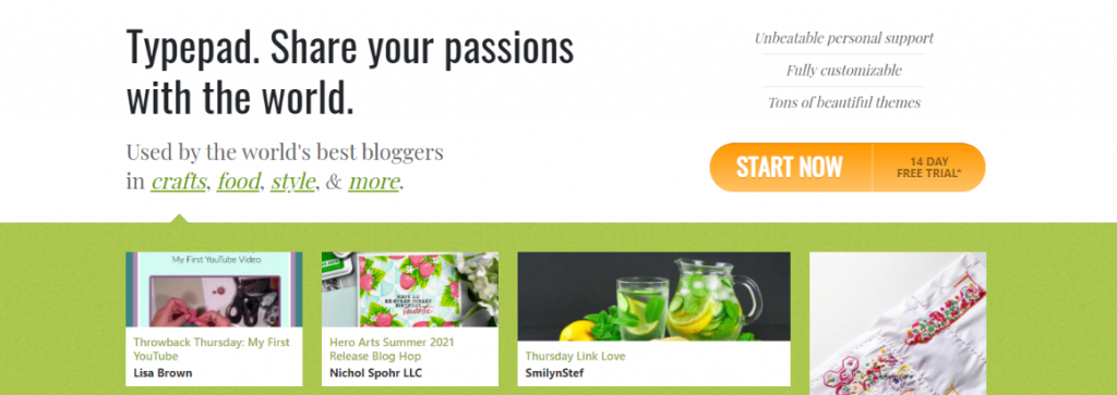 Typepad: Blog site