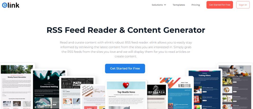 Elink.io: Rss news feed reader