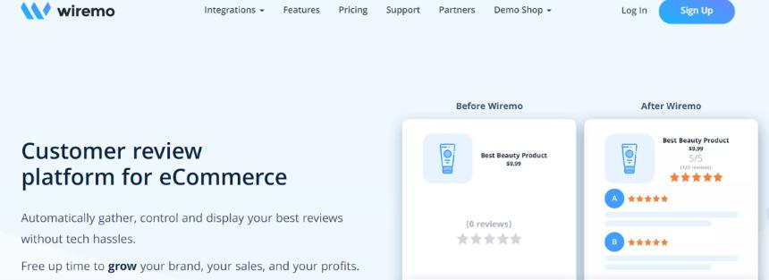 Wiremo: Squarespace intergration for customer review