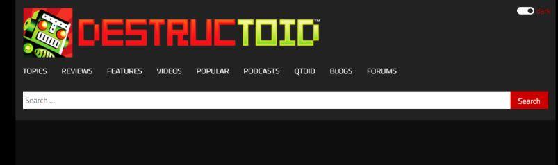 Destructoid: Gaming blog and website