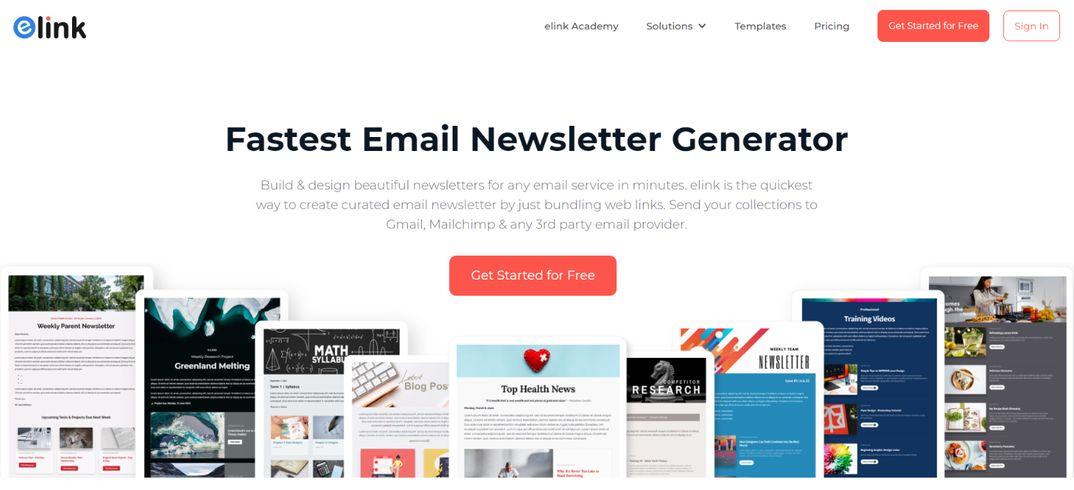 Elink.io: Email newsletter creator