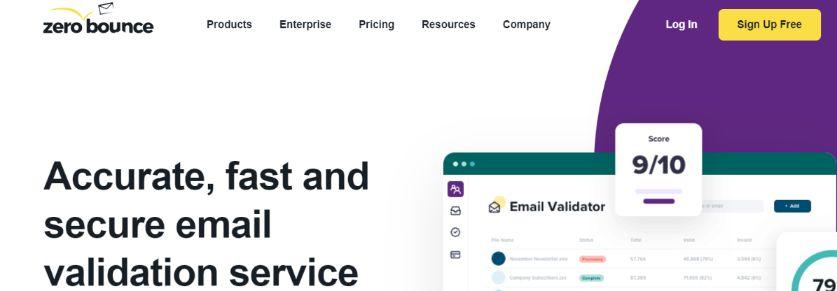 Zerobounce: Email cleaner