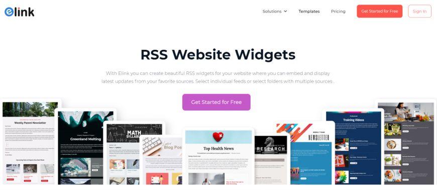 elink.io: Website widget