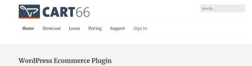 Cart66 cloud: WordPress ecommerce plugin