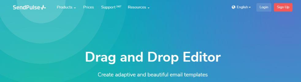 Sendpulse: Email template builder