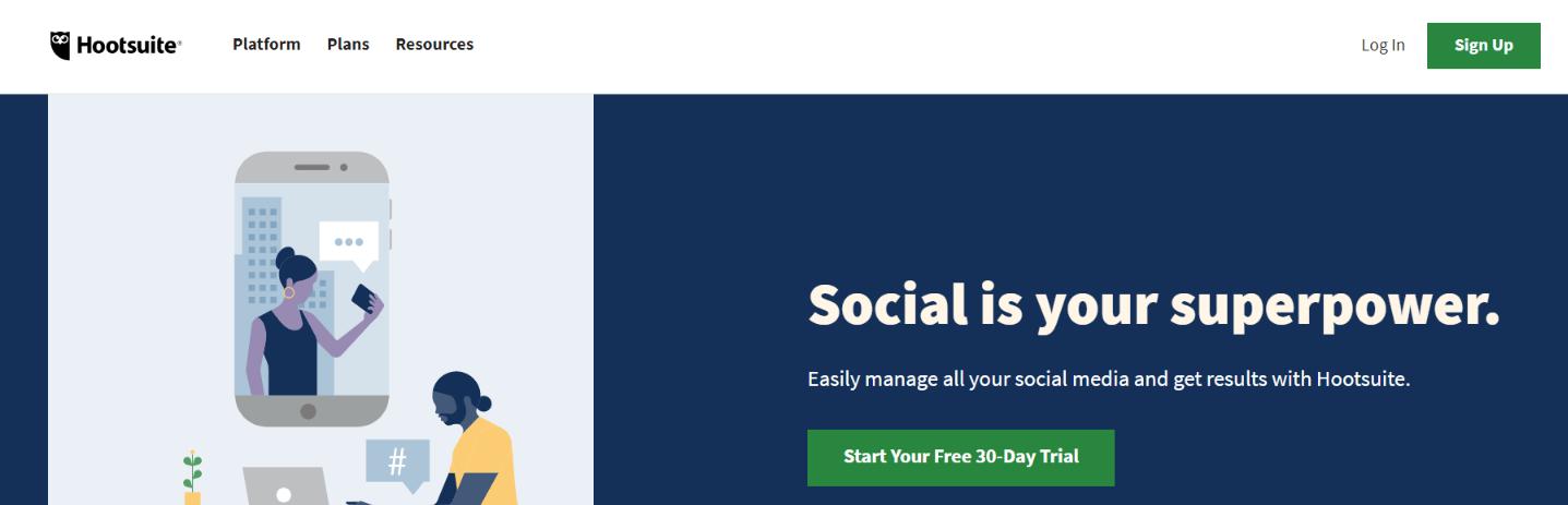 Hootsuite: Social media tool
