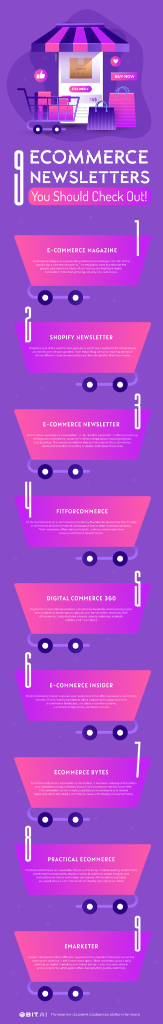 Ecommerce newsletters infographic